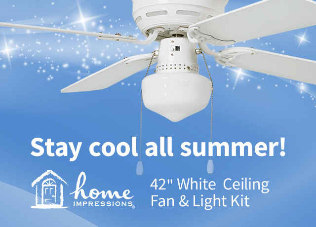 Home Impressions Ceiling Fan & Light Kit