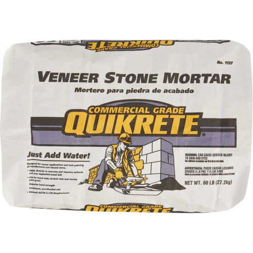 Quikrete 60 Lb. Gray Type S Veneer Stone Mortar Mix