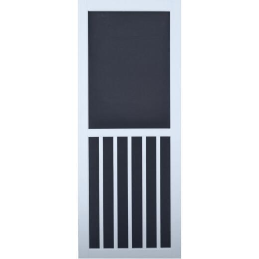 Snavely Kimberly Bay 32 In. W. x 80 In. H. x 1 In. Thick White Vinyl 5-Bar Screen Door