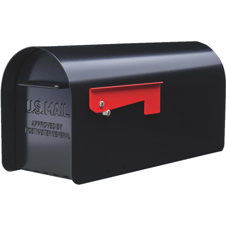 Gibraltar Ironside Black Steel Post Mount Mailbox Image 1
