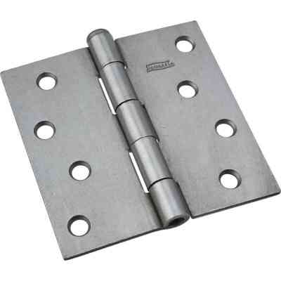 National 4 In. Square Plain Steel Broad Door Hinge