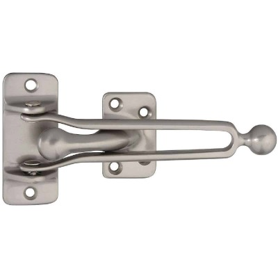 National Satin Nickel Door Security Guard