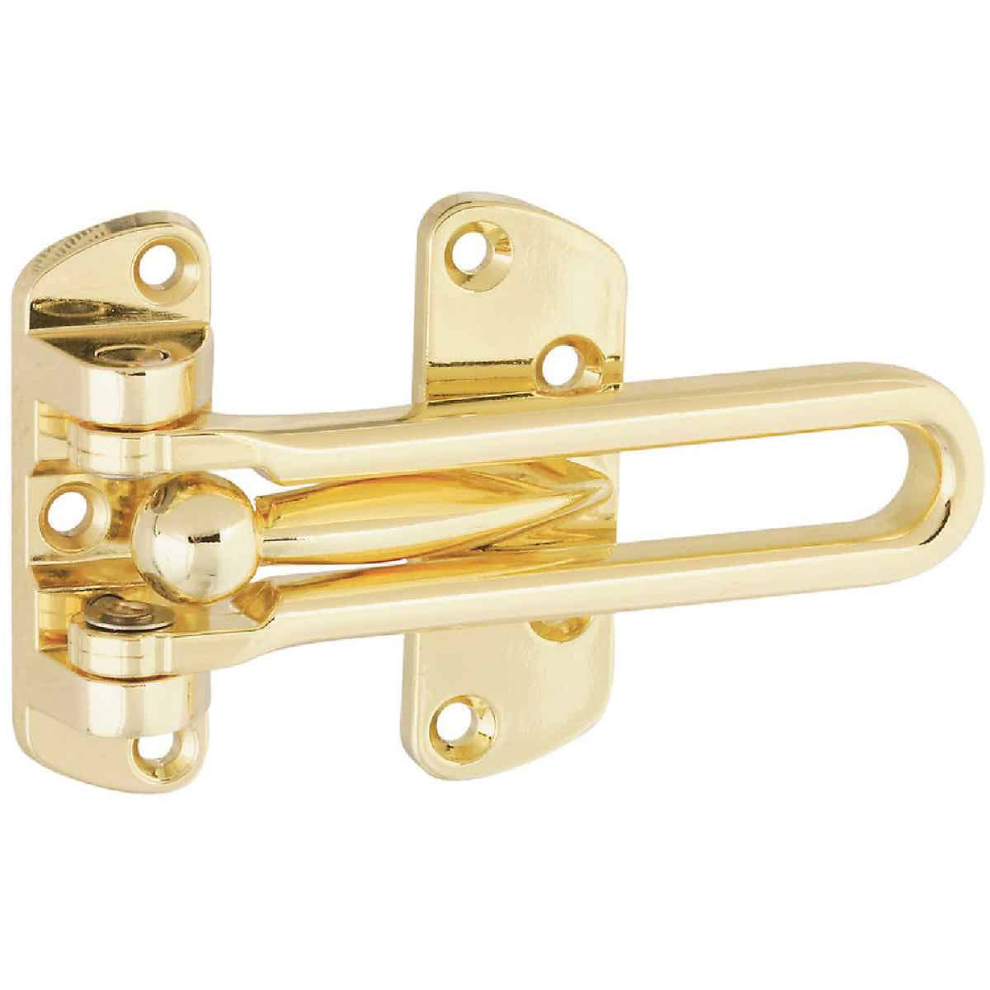 National Polished Brass Decorative Door Security Guard Image 1