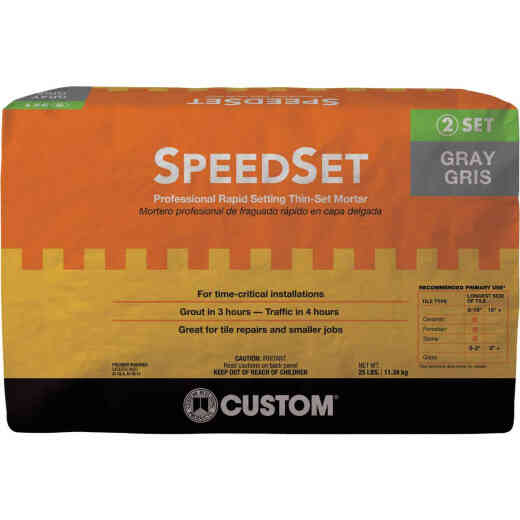 Custom Building Products 25 Lb. Gray SpeedSet Fortified Thin-Set Mortar