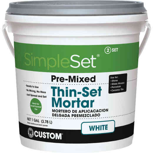 Custom Building Products SimpleSet Gallon White Pre-Mixed Thin-Set Mortar
