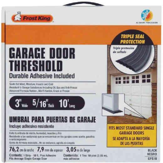 Do it 3 In. x 10 Ft. Black Rubber Threshold Garage Door Seal