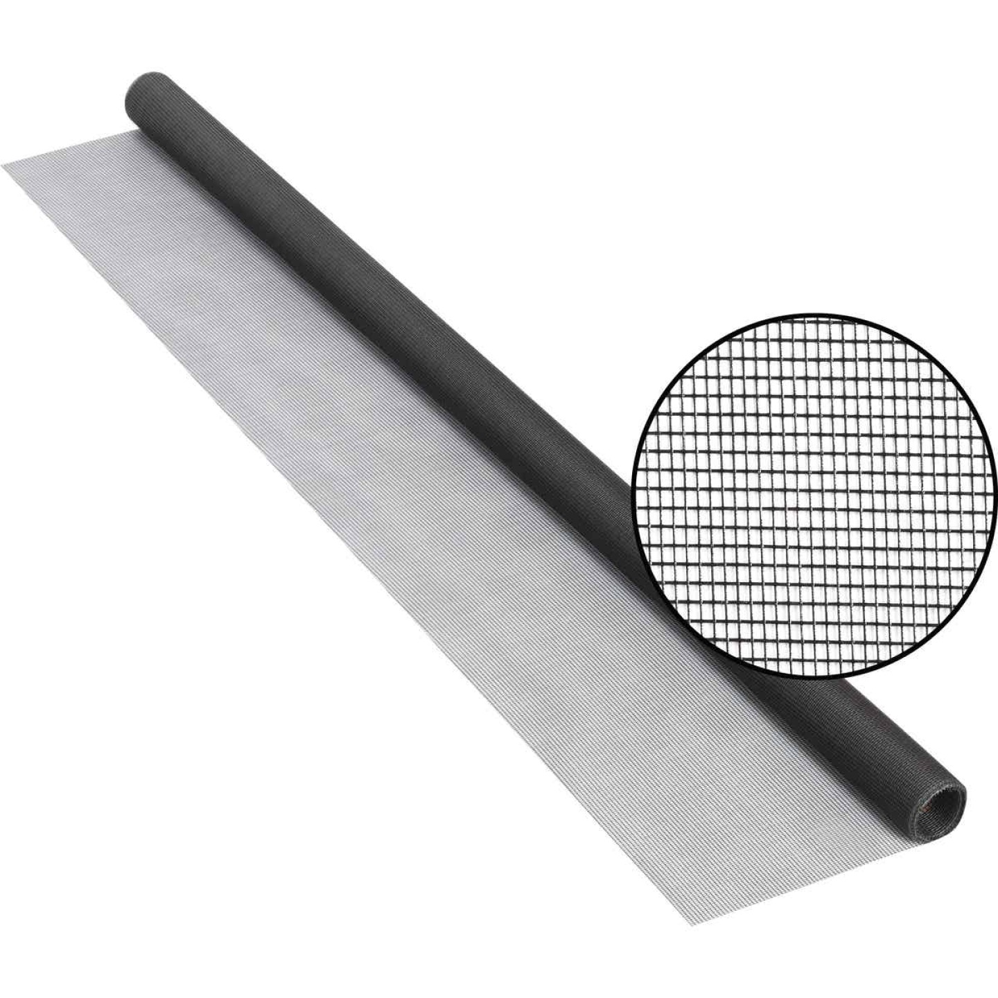 Phifer 48 In. x 84 In. Charcoal Fiberglass Screen Cloth Ready Rolls Image 1