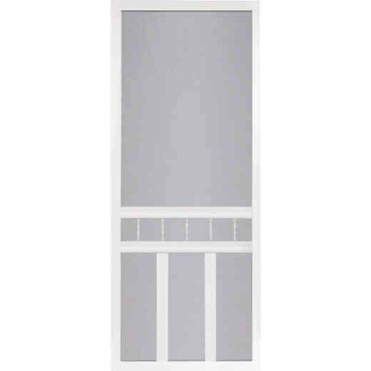 Screen Tight Waccamaw 32 In. W x 80 In. H x 1 In. Thick White Vinyl Screen Door