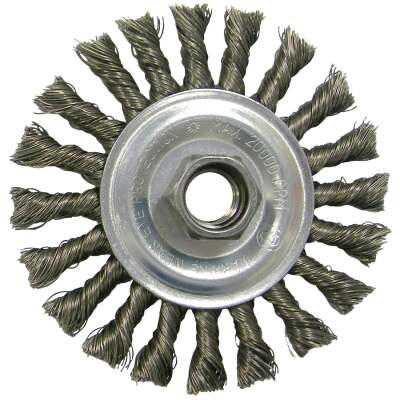 Weiler Vortec 4 In. Twisted/Knotted 0.020 In. Angle Grinder Wire Wheel