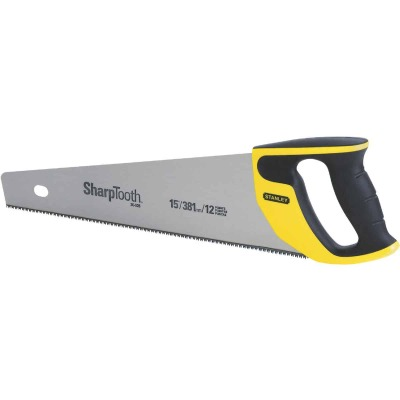 Stanley 15 In. L. Blade 12 PPI Comfort Grip Handle Hand Saw