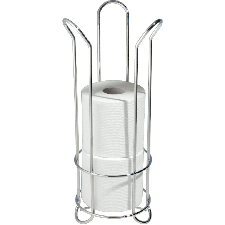 InterDesign Forma Chrome Tulip Freestanding Toilet Paper Holder Image 1