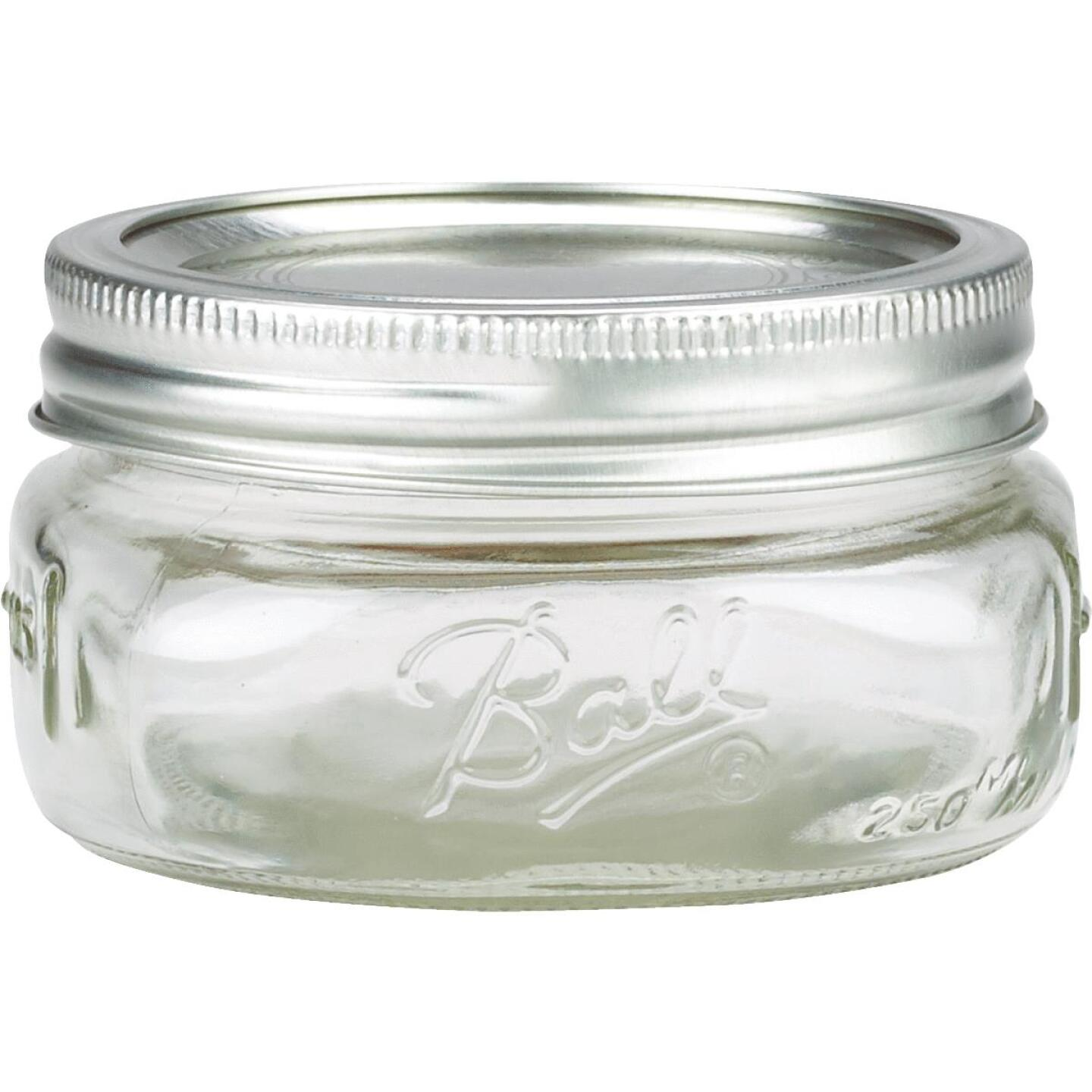 Ball Collection Elite 1/2 Pint Wide Mouth Mason Canning Jar (4-Count) Image 2