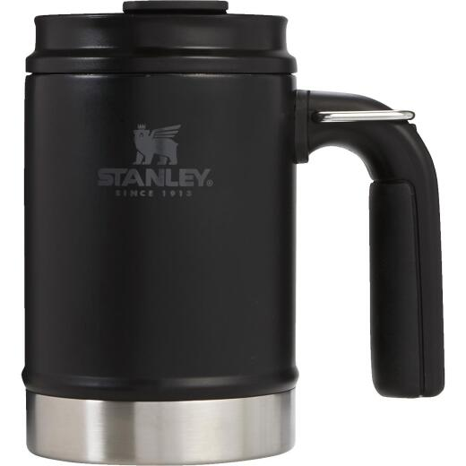 Stanley 16 Oz. Black Big Grip Insulated Mug