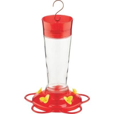 More Birds Ruby 10 Oz. Glass Hummingbird Feeder