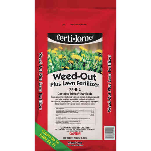 Ferti-lome Weed-Out 20 Lb. 5000 Sq. Ft. 25-0-4 Lawn Fertilizer with Weed Killer