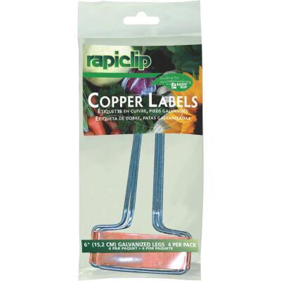 Rapiclip 6 In. Copper Plant Label (4-Pack)
