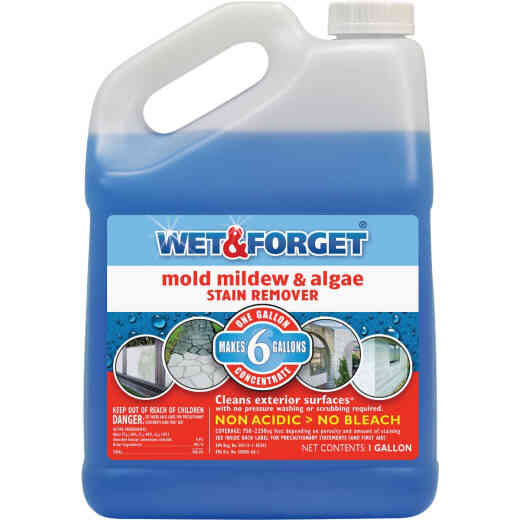 Wet & Forget 1 Gal. Liquid Concentrate Mold, Mildew, & Algae Stain Remover