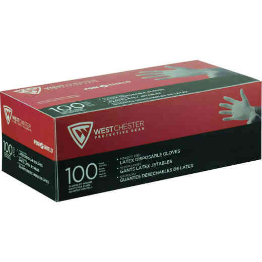 West Chester Protective Gear Posi Shield Medium Industrial Grade Latex Disposable Glove (100-Pack)