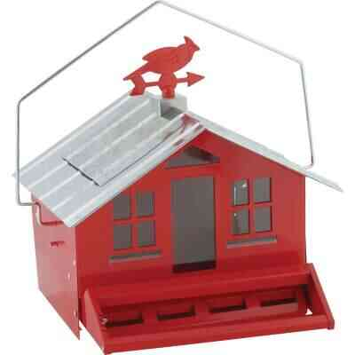 Perky-Pet Squirrel-Be-Gone Metal Country Bird Feeder, Red