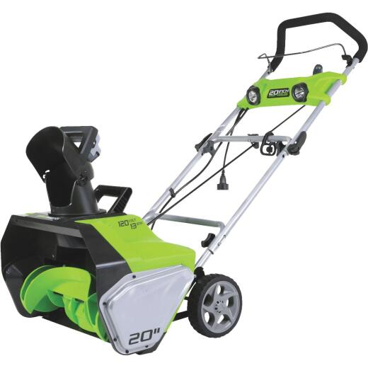 Greenworks 20 In. 13A Electric Snow Blower