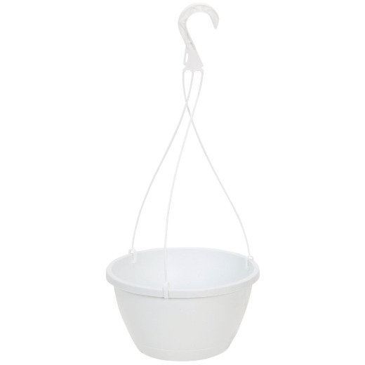 Myers 10 In. Polypropylene White Hanging Plant Basket