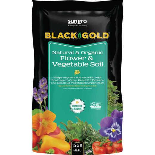 Black Gold 1.5 Cu. Ft. 23 Lb. Natural & Organic Flower & Vegetable Potting Soil