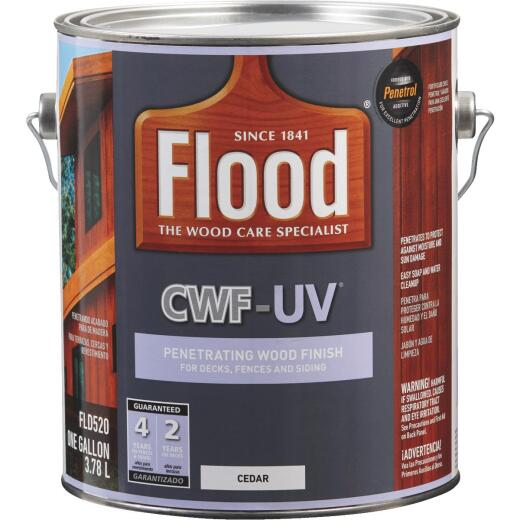 Flood CWF-UV Oil-Modified Fence Deck and Siding Wood Finish, Cedar, 1 Gal.