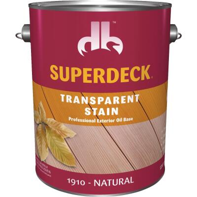 Duckback SUPERDECK Transparent Exterior Stain, Natural, 1 Gal.