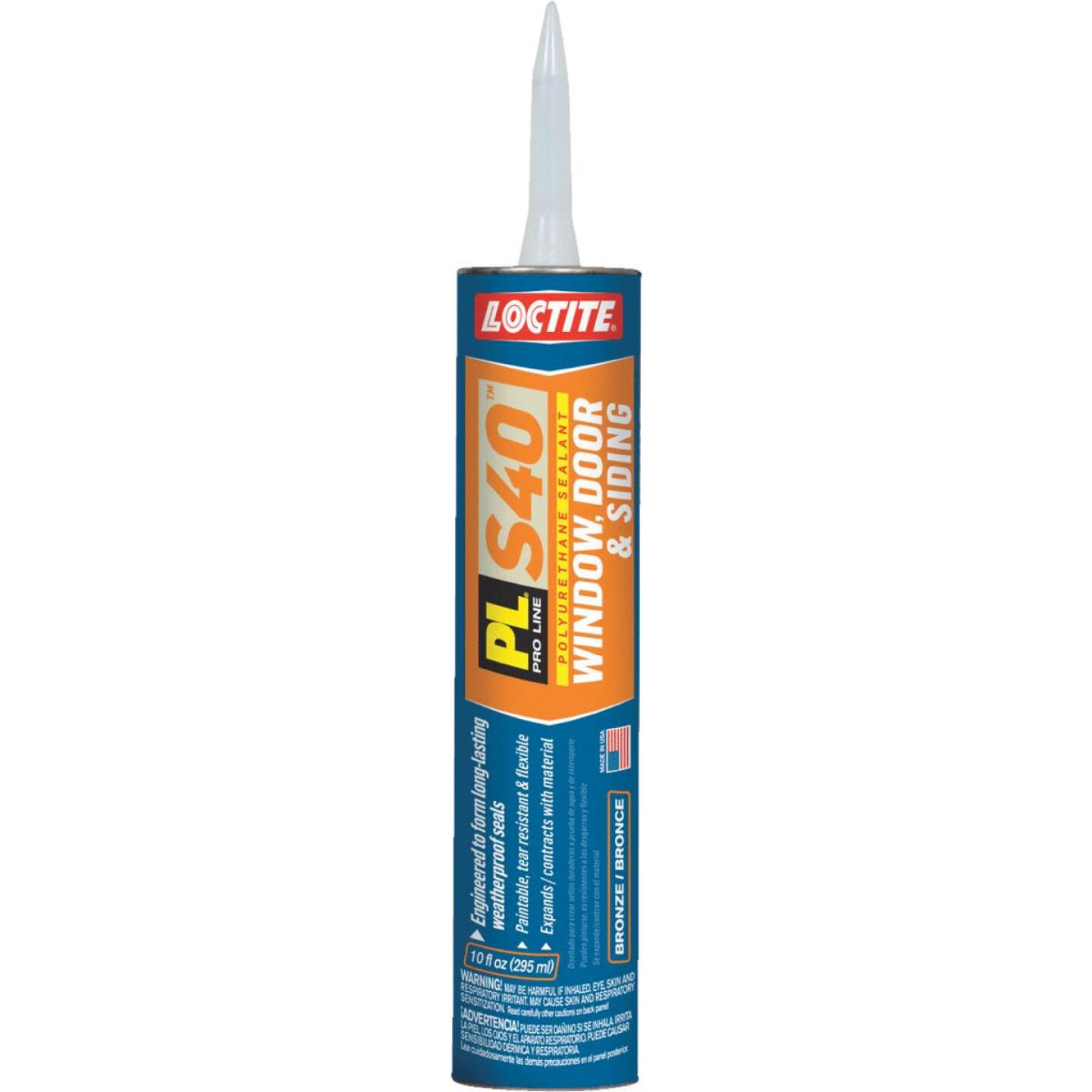 LOCTITE PL S40 10 Oz. Polyurethane Window, Door, & Siding Sealant, Bronze Image 1