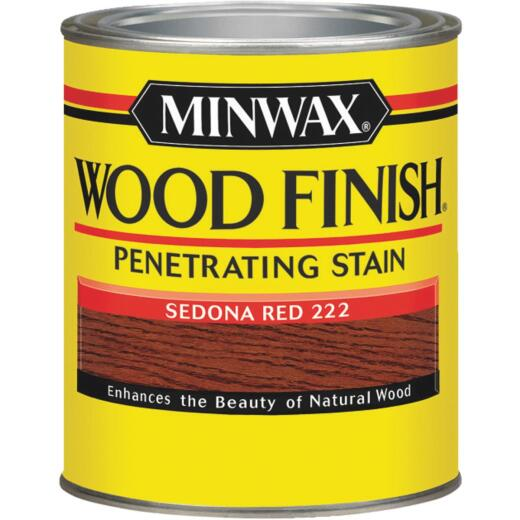 Minwax Wood Finish Penetrating Stain, Sedona Red, 1/2 Pt.
