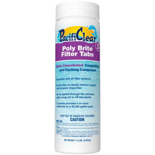 PacifiClear Poly Brite 1.5 Lb. Filter Clarifier Tablet