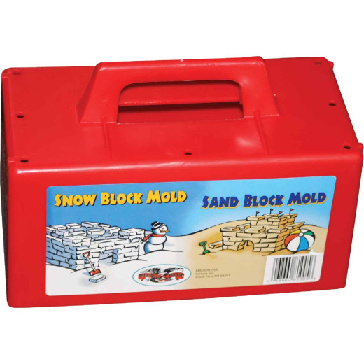 Flexible Flyer Red Plastic Sand & Snow Block Maker